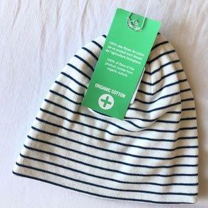 100% Organic cotton striped jersey cap